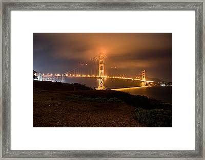 Framed Print featuring the photograph The Golden Gate by Brent Durken