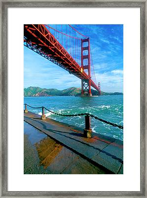 The Golden Gate Bridge And The Entrance Framed Print by John Alves