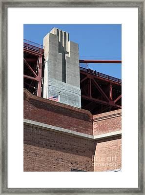 The Golden Gate Bridge At Fort Point - 5d21471 Framed Print by Wingsdomain Art and Photography