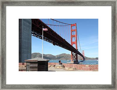 The Golden Gate Bridge At Fort Point 5d21586 Framed Print by Wingsdomain Art and Photography