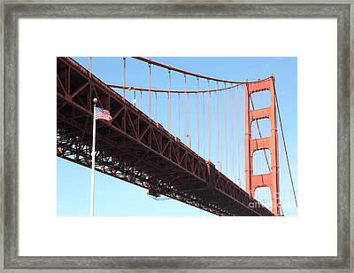 The Golden Gate Bridge At Fort Point 5d21589 Framed Print by Wingsdomain Art and Photography