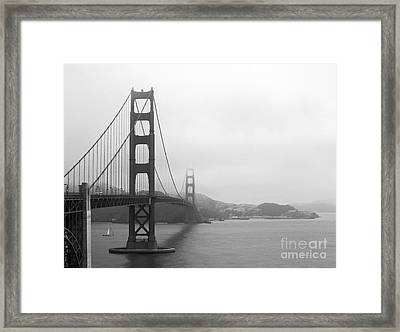 The Golden Gate Bridge In Classic B W Framed Print