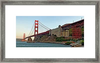The Golden Gate Bridge  Framed Print by Jim Fitzpatrick