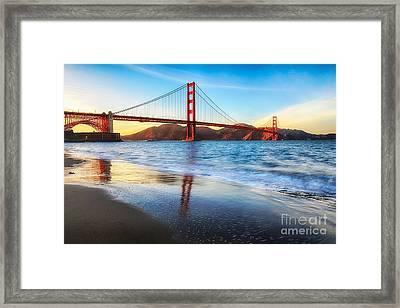 The Golden Gate Bridge Framed Print by Mel Ashar