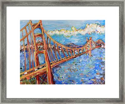 The Golden Gate Framed Print by Jason Gluskin