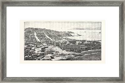 The Golden Gate San Francisco Engraving 1876 Framed Print by English School