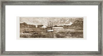 The Golden Gate, San Francisco H.m.s. Comus Leaving Framed Print by Litz Collection