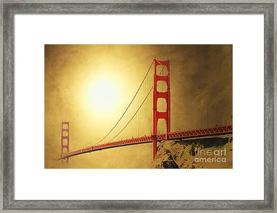 The Golden Gate Framed Print by Wingsdomain Art and Photography