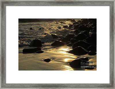 The Golden Glow Of Sunrise Framed Print by Noel Elliot