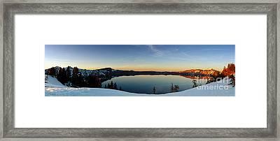 The Golden Hour - Crater Lake Framed Print