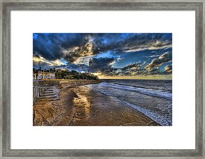 the golden hour during sunset at Israel Framed Print by Ronsho