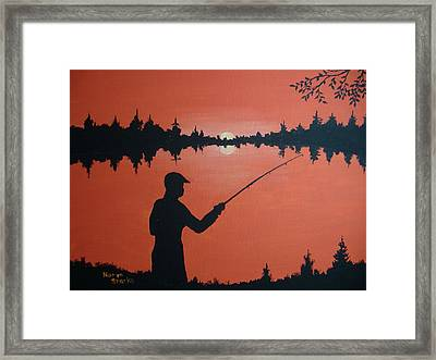 Framed Print featuring the painting The Golden Hour by Norm Starks