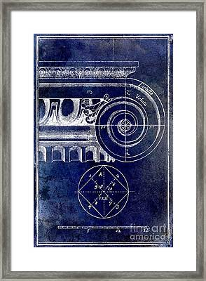 The Golden Mean Blue Framed Print by Jon Neidert