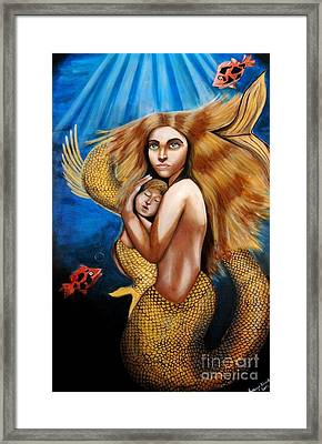 The Golden Mermaid Framed Print by Saranya Haridasan