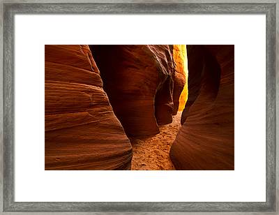 The Golden Passage Framed Print by Kenan Sipilovic