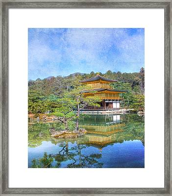 The Golden Pavilion Framed Print
