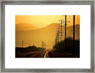 The Golden Road Framed Print by Matt Harang