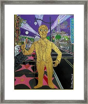 The Golden Robot Framed Print