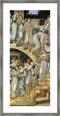 The Golden Stairs Framed Print by Edward Burne Jones