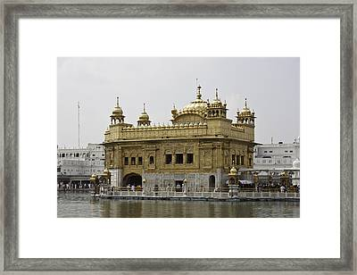 The Golden Temple In Amritsar Framed Print