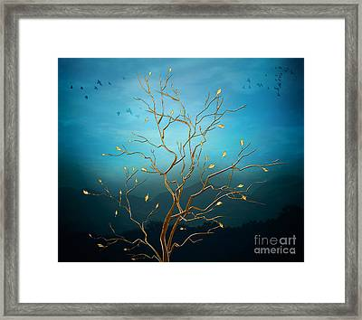 The Golden Tree Framed Print
