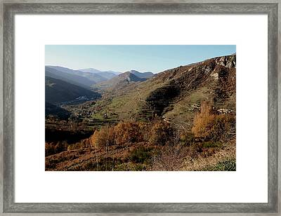 The Golden Valley Framed Print by Frederic Vigne