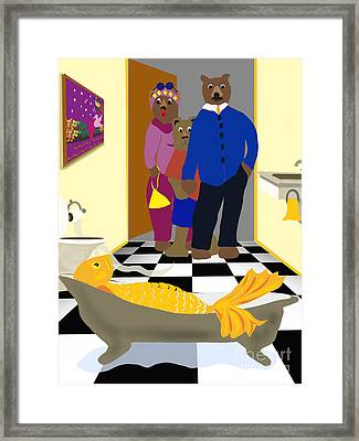 Goldielox And The Three Bears Framed Print by Sydne Archambault