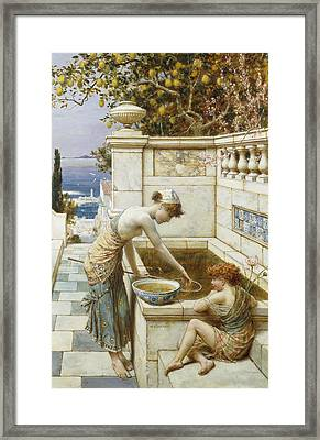 The Goldfish Pond Framed Print by William Stephen Coleman