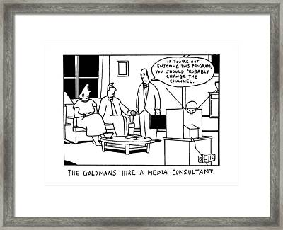 The Goldmans Hire A Media Consultant Framed Print by Bruce Eric Kaplan