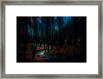 The Golems Of Darkwoods Forest Framed Print