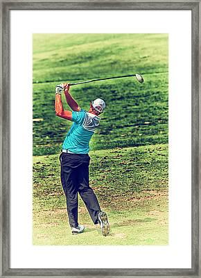 The Golf Swing Framed Print by Karol Livote