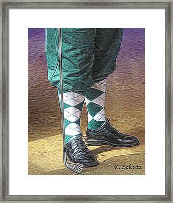 The Golfer Framed Print by Kelly Schutz