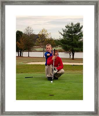 The Golfers Framed Print by Bob Pardue
