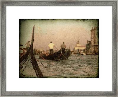 The Gondoliers Framed Print by Micki Findlay