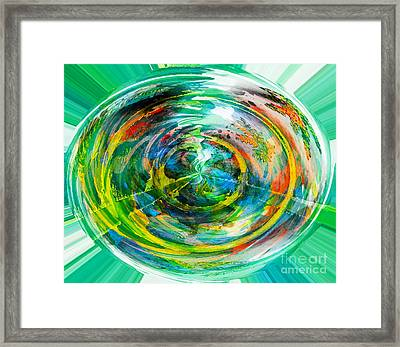 The Good Earth - Green - Healthy - Environment  Framed Print