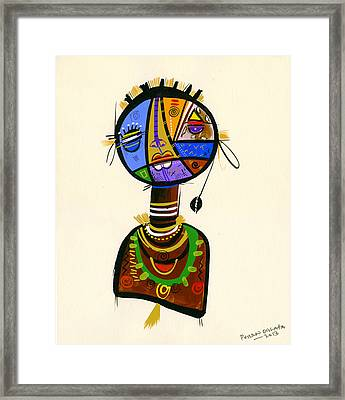 The Good Face Of Colours, 2013 Mixed Media On Card Framed Print