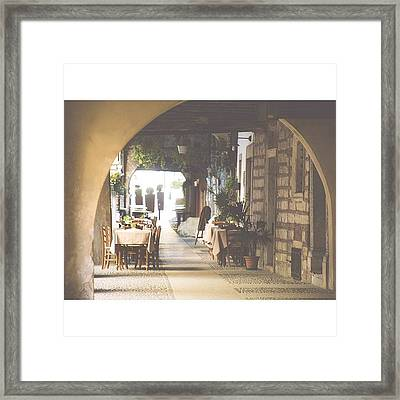 The Good Life  #italy #summer #dine Framed Print by A Rey
