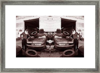 The Good Old Boy Twin's Garage Framed Print