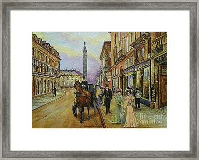 The Good Ole Days-an Evening Out Framed Print by Andrew Read