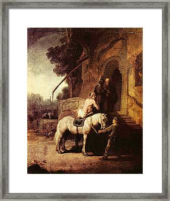 The Good Samaratin Framed Print by Rembrandt