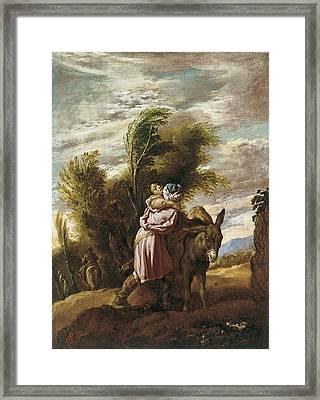 The Good Samaritan Framed Print by Domenico Fetti
