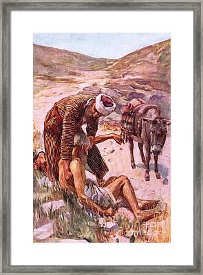 The Good Samaritan Framed Print by Harold Copping
