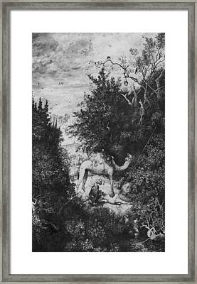 The Good Samaritan Framed Print by Rodolphe Bresdin