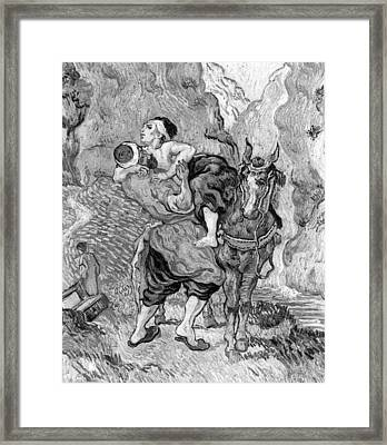 The Good Samaritan Framed Print by Vincent van Gogh