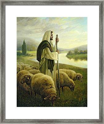 The Good Shepherd Framed Print by Greg Olsen
