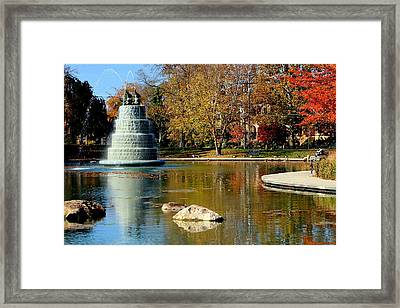 The Goodale Park  Fountain Framed Print by Laurel Talabere