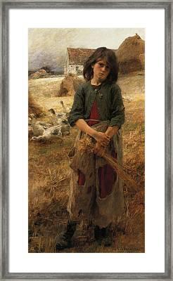 The Goose Girl Of Mezy Framed Print