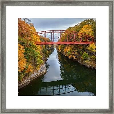 The Gorge Square Framed Print by Bill Wakeley