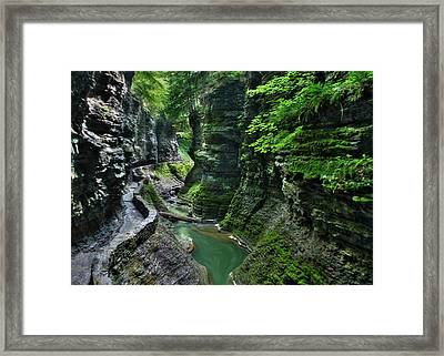 The Gorge Trail Framed Print