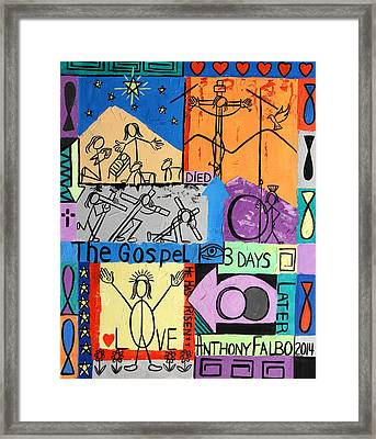 The Gospel Framed Print by Anthony Falbo